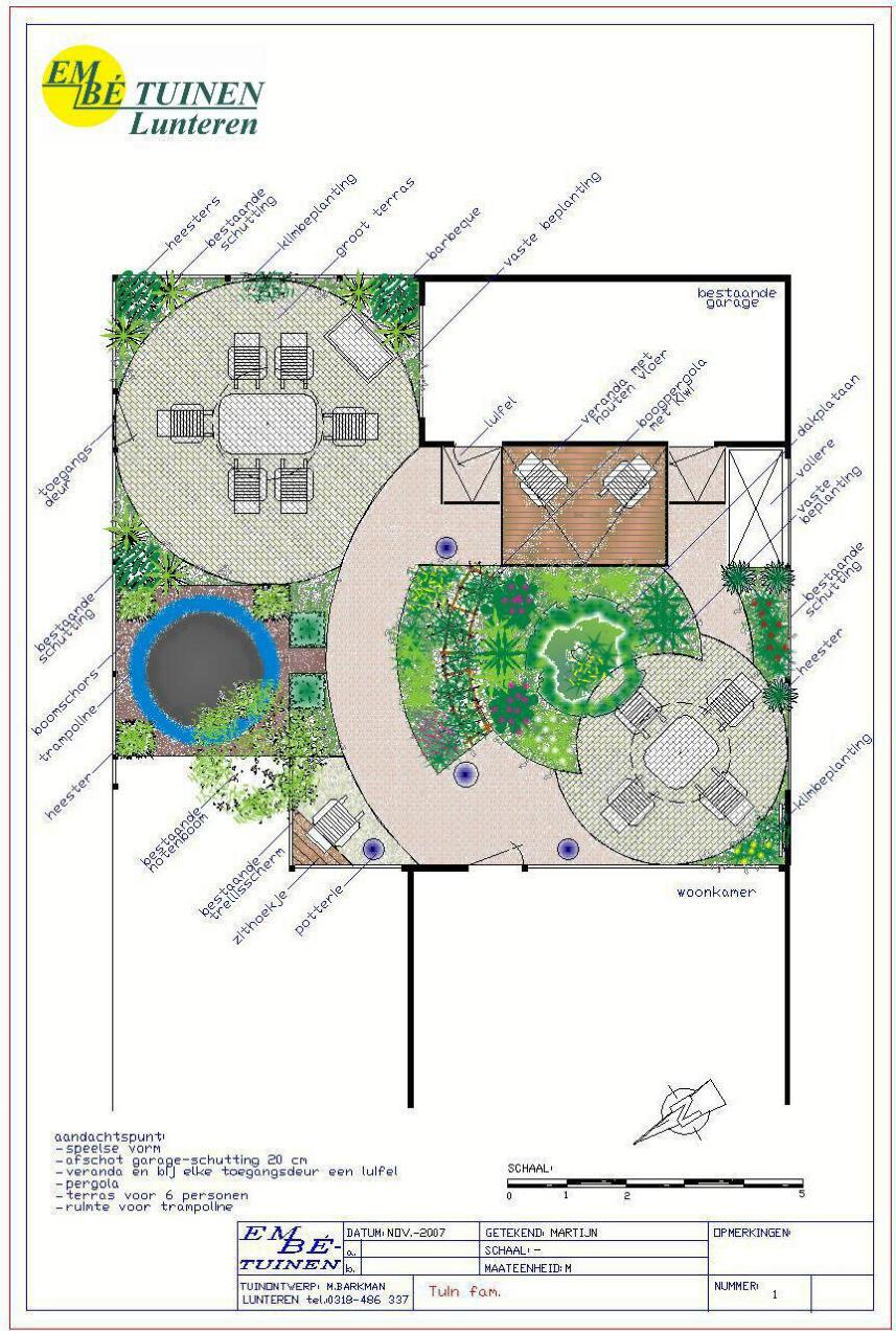 for Plattegrond tuin maken